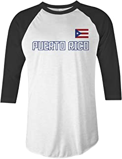 Puerto Rico National Pride Unisex Raglan T-Shirt