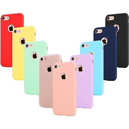 Leathlux 9 Coque Compatible avec iphone 6 Plus 5.5 Pouces Étui Silicone, Mince Souple TPU Housse Protection Gel Cover Case Rose, Vert, Violet, Bleu ...