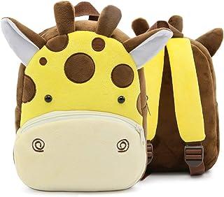 Mochila para Niña y Chico, Pequeño Mochilas Infantil Linda Mochilas para Guardería Animales 3D Suave Mochila de Felpa para Bebe…