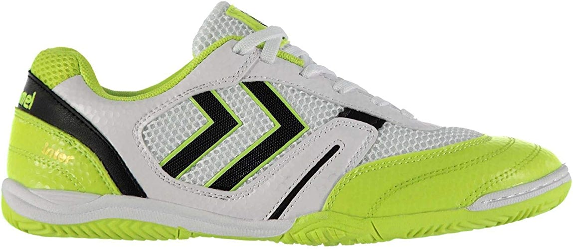 Humel Inter Home Trainer pour Homme WHT Vert Citron de Football Soccer Fusbal Chaussures baskets