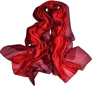 وشاح JL للسيدات صيفي من الحرير بألوان متدرجة وشال واقي من الشمس خفيف الوزن للنساء
