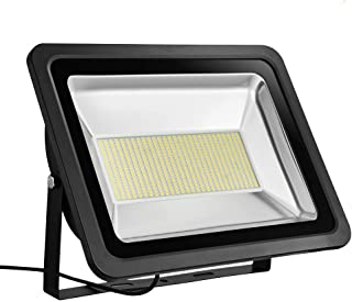 300W LED Flood Light, IP65 Waterproof, 110V, 24000LM, 2800-3000K Daylight White, Super Bright Outdoor Security Lights, Work Light, Floodlight Landscape Wall Lights (Warm White)