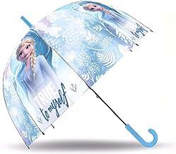 Paraguas Frozen 2 Disney Paraguas Cúpula Paraguas Automático Infantil Niña 45cm