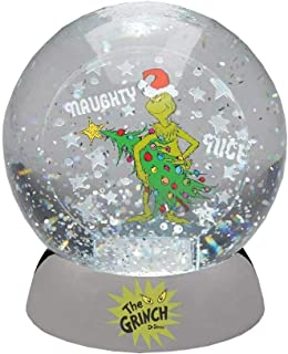 Department 56 Grinch Naughty or Nice Water Dazzler. Snow Globe, Multicolor