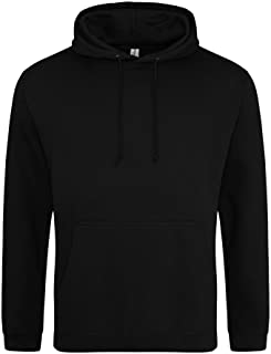 Awdis Unisex College Hooded Sweatshirt/Hoodie (UK Size: XXL) (Deep Black)