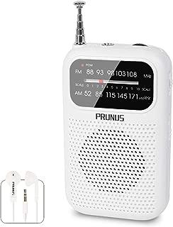 Gemean ラジオ ポータブル ポケットラジオ AM/FM/ワイドFM 高感度 携帯 小型ラジオ 名刺サイズ 薄型 軽量 イヤホン付属 fmスピーカー