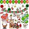 Patt クリスマス 飾り 装飾 飾り付け 壁飾り デコレーション バルーン パーティーセット サンタクロース 雪だるま 豪華96点セット