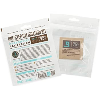 Boveda for Cigars | One-Step Calibration Kit | Preloaded with 75% RH 2-Way Humidity Control | Precise Salt Test for Digital and Analog Hygrometers and Humidity Sensors | 1-Count