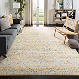 Safavieh Evoke Collection Contemporary Bohemian Gold and Ivory Area Rug (8' x 10')