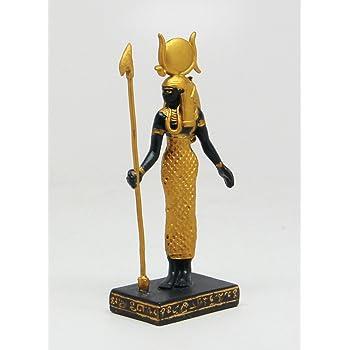 PTC 3.25 Inch Hathor Egyptian Mythological Guardian Statue Figurine