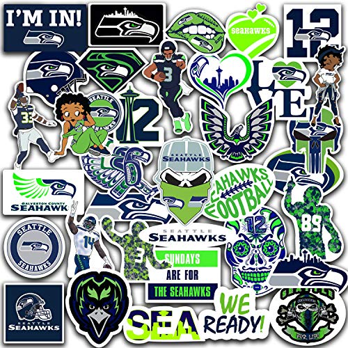 Stickers Pack Seattle Vinil Seahawks Stickers Pack of 35 pc