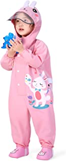 Kids One Piece Printed Puddle Rain Suit