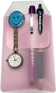 6PCS Pocket Protector Holds Doctors Nurses Dedicated Pen Bag Practical Pen Inserted Leak-Proof Pen Pocket Protector for School Hospital and Office (Pink)