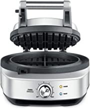 Sage Appliances SWM520 the No-Mess Waffle, Wafelmaker, Brushed Stainless Steel, 14 (h) x 28 (b) x 22 (t) cm