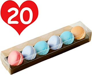 20pcs Luxury Clear Bakery Cake Macaron Gift Box for Wedding Party Baby Shower Favors Macaron Box For 6