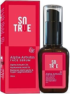 Sotrue Alpha Arbutin Face Serum with Hyaluronic Acid, 30ml | Reduces Dark Spots & Hyper-Pigmentation | Clear & Glowing Ski...