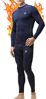 MEETWEE Biancheria Intima Termica Uomo Set,Traspirante Asciugatura Rapida Maniche Lunghe Sportiva Sets per Ciclismo e Lo A...