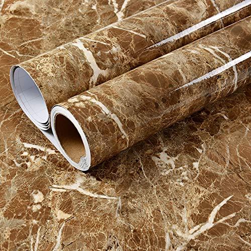 LZYMLG PVC wasserdicht Marmor selbstklebende Tapete Schlafsaal Schlafzimmer DIY Aufkleber Küche Wand Renovierung Aufkleber Öl Kaffee