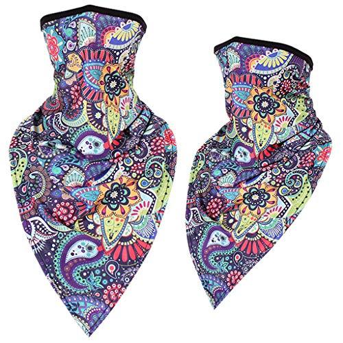 Lazzboy 2pc Bandana Damen Multifunktion Tuch, Halstuch, Kopftuch Unisex Rave Neck Gamasche Rohr Kopfbedeckung Für Frauen Männer Gesicht Schal(Mehrfarbig)