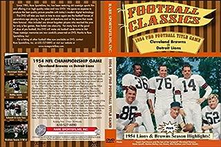 1954 NFL CHAMPIONSHIP GAME Cleveland Browns vs Detroit Lions on DVD