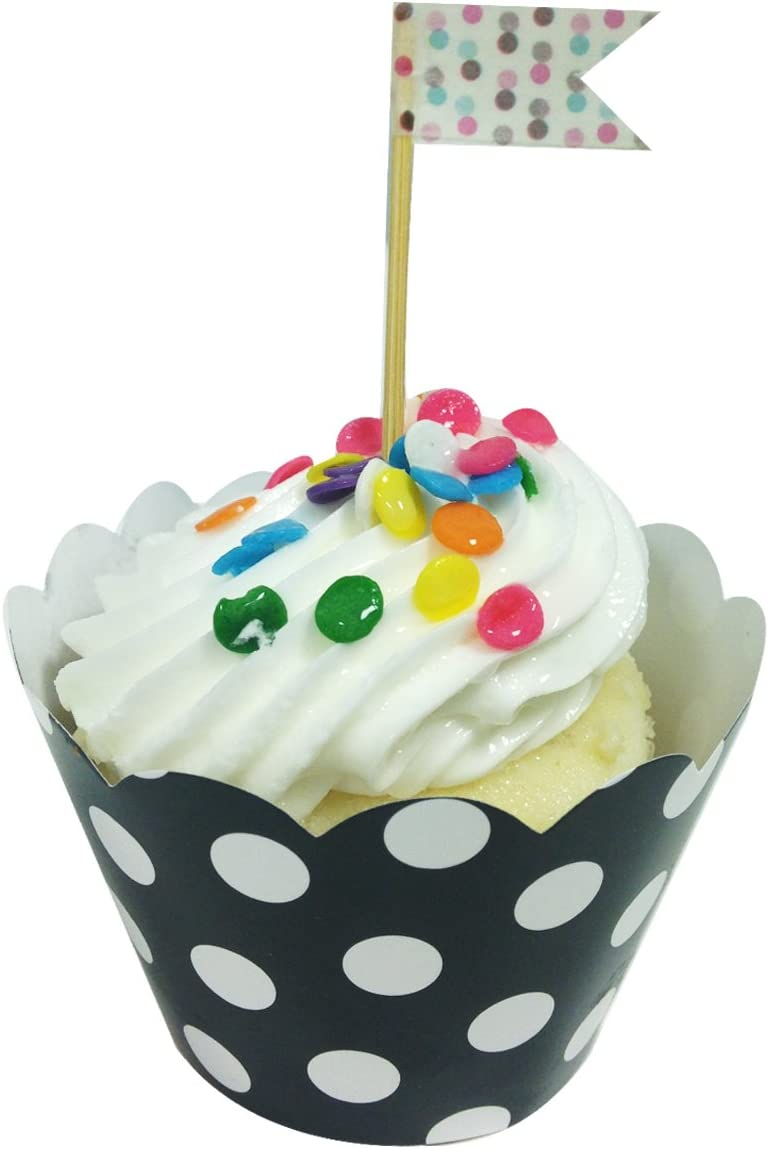 Allydrew Standard Size Polka Dots Set 60 Max 51% OFF Wrappers Cupcake Max 46% OFF of