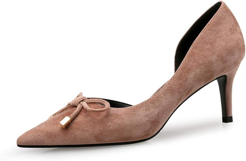 DANDANJIE Damenschuhe Elegant Charm Charm High Heel Stiletto Spitz Kleid Schuhe Party Sandalen High Heels Schuhe (Farbe   Nude Farbe, Größe   35)  2018 speichern