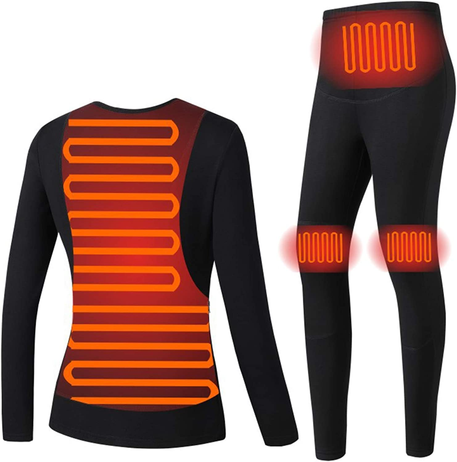 Autumn and Winter Smart Heating Clothing Constant Temperature Suit Usb Heating Solid Color Heating Thermal Underwear