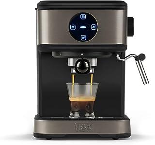 BLACK+DECKER BXCO850E - Machine à café expresso 850W, 20 bars, 2 tasses, Fonction vapeur, Arrêt automatique, Quantité prog...