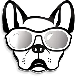 4ArtWorks - Cool Dog 3D French Bulldog with Sunglasses Wall Art - Silver Mirror Finish Glasses - For Frenchie, Dog & Street Pop Art Lovers - Made in the USA - Modern Home Decor (13