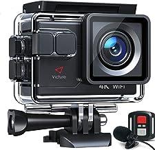 【令和最新】Victure アクションカメラ 4K/30fps 20MP画素 ウェブカメラ ウェブカメラ PC Webカメラ ウェブカメラ 外部マイク対応 リモコン付き WiFi搭載 手振れ補正 40M防水 水中カメラ 170度超広角レンズ 充...