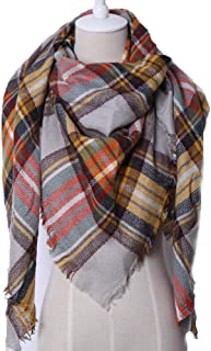 Wool Scarf for Women and Girls,Classic Scarf Warm Soft Chunky Large Blanket Wrap Shawl Scarves for Fall/Winter