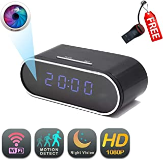 WiFi Clock Camera | GEAGLE 1080P HD WiFi Clock Hidden Spy Camera | External Memory | Motion Detection | Night Vision | Live Video | P2P/ WiFi