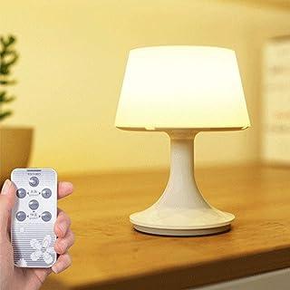 Lámpara Nocturna Portable Lámpara de Escritorio Mesa de Noche Luz LED Inalámbrica con Mando a distancia Recargable via USB para Dormitorio Mesa de café Mesilla de noche, Regulable
