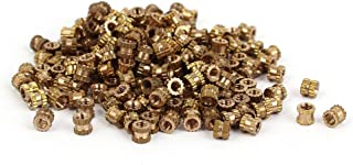 Uxcell a16041800ux0766 M2 x 3 mm Brass Cylinder Injection Molding Knurled Insert Embedded Nuts 200PCS (Pack of 200)