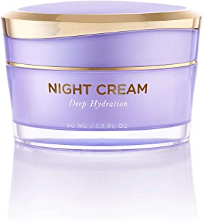 Overnight Miracle Glow Night Cream - Anti-Aging Retinol, Moisturizing Hyaluronic Acid, Jojoba Oil & Squalane Help Hyperpigmentation, Oil and Acne-Prone Skin. Vegan And Clean Skin Care.
