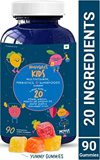 Carbamide Forte Multivitamin for Men, Women & Kids with Superfoods, Prebiotics and Multiminerals Supplements - 90 Vegetarian Gummies