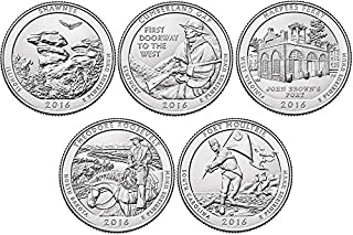 2016 P, D BU National Parks Quarters - 10 coin Set Uncirculated