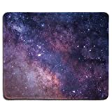 dealzEpic - Art Mousepad - Natural Rubber Mouse Pad with Photo of The Milk Way Galaxy Starry Night - Stitched Edges - 9.5x7.9 inches