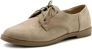 Women Classic Flat Shoe Lace Up Faux Suede Oxford