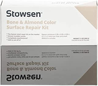 Bone & Almond Color Surface Repair Kit - Fix Chips & Defects in Minutes | Repair Tiles Bathroom Fixtures and Countertops with Ease | for Porcelain Ceramic Fiberglass Corian and Enameled Surfaces