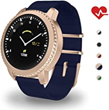 MATEYOU Mate5 IP68 Ring Fitness Tracker for Women, 1.22 in HD Screen, Background Custom, Suitable for Men and Momen Swimming/Fitness/Sports