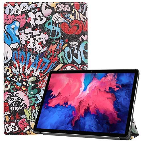 Lobwerk Tablet Hülle für Lenovo Tab P11 2021 TB-J606F TB-J606X 11 Zoll Slim Hülle Etui mit Standfunktion & Auto Sleep/Wake Funktion