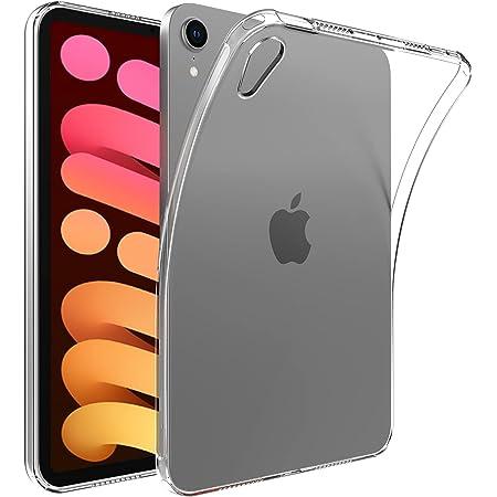 IVSOJP iPad mini 6 ケース カバー TPU保護 ソフト シリコンケース 薄型 衝撃吸収 耐衝撃 iPad mini 6 2021年版専用ケース(クリア) (トランスペアレント)