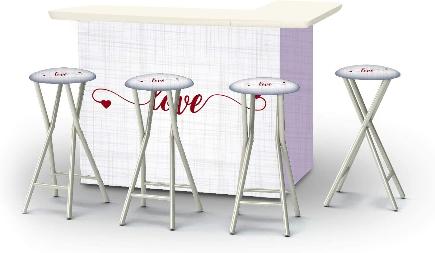 Best Many popular brands of Times 2002W2834 Bar and Max 79% OFF Valentines Set Stools - 4