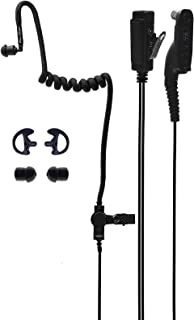 Moisture Resistant Acoustic Tube Two Wire Radio Earpiece with Mic & Reinforced Cable. Compatible Motorola APX4000 APX6000 APX7000 APX8000 XPR3500 XPR6100 XPR6350 XPR6550 XPR7550 XPR7550e. by Paracomm