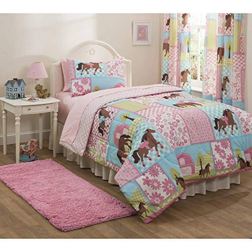 Mainstays Kids Country Meadows Bed in a Bag Reversable Bedding Set Includes Comforter, Sheets, Sham(s) and Pilllowcase(s), FULL