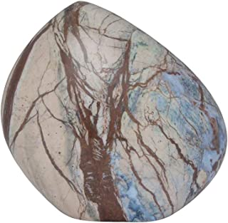 Ansons Urns Small Cremation Urn - Mountain/Rock Funeral Urn Light Blue and Beige - Aluminum Memorial Garden Burial Urn - Aluminum with Marbled Design - Fits up to 12 lbs