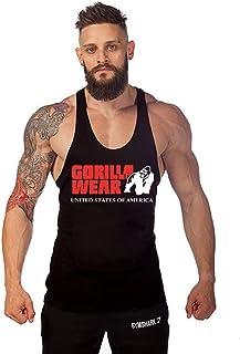 Muzboo Camisetas sin mangas de algodón para hombre y gimnasio, culturismo y gorila, divertidas, sin mangas, para entrenami...