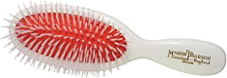 Mason Pearson Pure Nylon Hair Brush Pocket Size N4 White