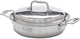 360 Stainless Steel Saute Pan with Lid, 10